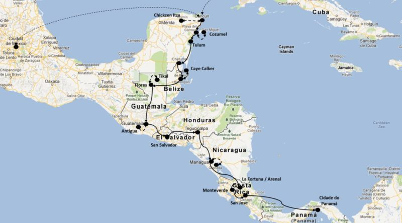 one month Central America itinerary